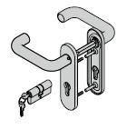 Paquet d'accessoires Si-F (béquillage, avec plaque courte, 8 mm + cylindre profilé)