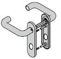 Béquillage de sécurité, avec plaque courte (sans protection contre l'arrachement), 8 mm, Aluminium