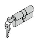 Cylindre profilé 40,5 + 27,5 mm avec protection contre le perçage (des deux côtés) et carte de sécurité