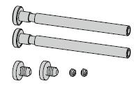 Carton d'accessoires pour V 0026 (pour 2 paumelles)