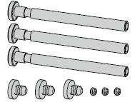Carton d'accessoires pour V 0026 (pour 3 paumelles)