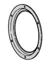 Cadre de hublot Ø 400 mm (chaque porte nécessite 2 pièces !)
