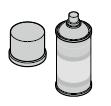 Laque de retouche RAL Blanc 9016(150 ml)