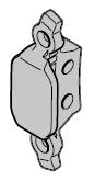 Crochet anti-tempête HG 75 pour commande manuelle