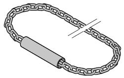 Chaîne à maillons en acier lestée pour treuil à main