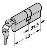 Cylindre profilé 31,5 + 31,5 mm