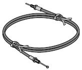 Câble sous gaine pour porte de garage enroulable (1 m)