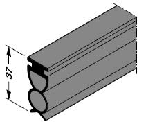 Joint de sol pour porte de garage à positionnement sous plafond