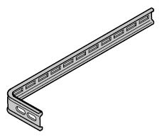 Patte d'ancrage pour rail de guidage