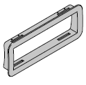 Cadre extérieur pour élément vitré et grille d'aération