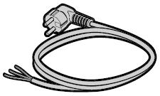 Câble de connexion secteur pour moteur de grille à enroulement HG 75 TD