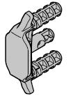 Crochet anti-tempête pour commande motorisée