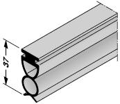 Joint de sol pour porte de garage enroulable intérieure