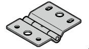 Charnière type 2 H (ferrure H)