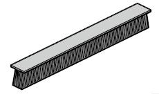 Joint à brosses HST du côté courbe