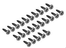 (25 pièces) Vis à tôle à tête bombée 6,3 × 16 T30, Torx Liko