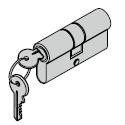 Cylindre profilé pour barre de pression 40,5 + 31,5 mm