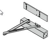 Ferme-porte TS 4000 avec plaque de montage