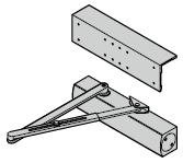 Ferme-porte TS 4000 avec équerre de fixation