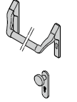 Barre antipanique / Bouton en aluminium