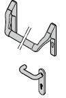 Barre antipanique / Béquille en aluminium