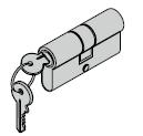 Cylindre profilé pour barre 31,5 + 55,5 mm