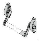 Mécanisme de renvoi pour verrouillage 3 points en applique