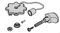 Poignée de porte N 80 / Porte à portillon incorporé, noire, réglable, sans plaque de poignée