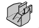 Renvoi pour pêne tournant N 80 / EcoStar / Porte à portillon incorporé à partir du n° de série 05088