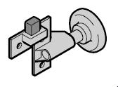 Chape de roulette Complète avec galet de guidage et butoir : N80 / EcoStar jusqu'au n° de série 07120