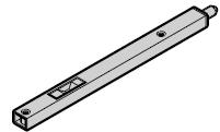 Verrou latéral en U pour portillon indépendant à deux vantaux