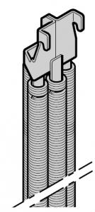 Système de ressorts quadruple N 80 / S95 / EcoStar / Porte à portillon incorporé
