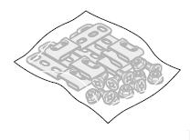 Sachet de pattes d'ancrage pour portillon indépendant