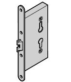 Serrure à bouton fixe pour cylindre profilé de portillon indépendant