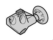 Chape de roulette Complète avec galet de guidage et butoir : EcoStar à partir du n° de série 07121