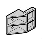 Aide au roulement inférieur N 80 / S95 / EcoStar / Porte à portillon incorporé, à partir du n° de série 99001