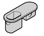 Douille de sol avec capot de protection pour portillon indépendant à deux vantaux