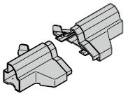 Pièce d'extrémité de socle pour porte à portillon incorporé avec seuil plat