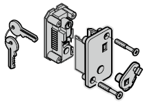 Serrure à cylindre profilé, TS 42,5 mm (cylindre inclus)