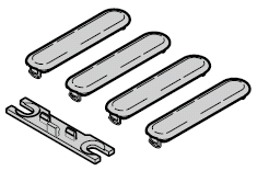 Set de cache / montage pour verrouillage multipoints de portillon incorporé
