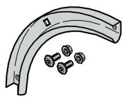 Set : courbe de rail de guidage 90°
