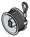 Tambour d'enroulement, ferrures N et L jusqu'à 2250 mm