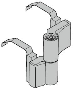 Paumelles en applique pour portillon indépendant à 2 vantaux