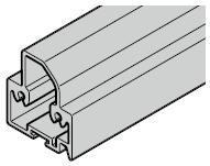Profilé de sol pour portillon indépendant PT 1, 2, 3