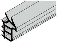 Set de joint d'amortissement : pour portillon indépendant à huisserie d'angle