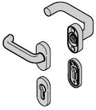 Béquilles (92) coudée / plate, synthétiques noires (portillon incorporé)