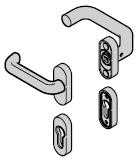 Béquilles (92) coudée / plate (portillon incorporé)