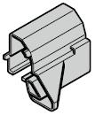 Pièce d'extrémité de socle pour porte à portillon incorporé
