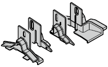 Set : embouts de socle de portillon et embouts de fermeture pour porte à portillon incorporé avec seuil plat