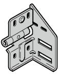 Support roulette intermédiaire type 4, ferrures N, BL, Z, BZ et L